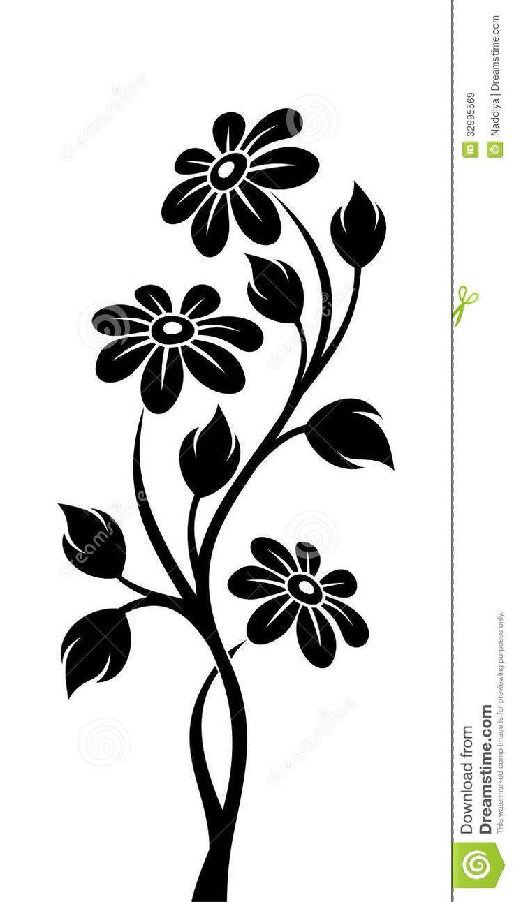 736x1292 802 Best Silhouettes Flourish Flower Silhouettes Images