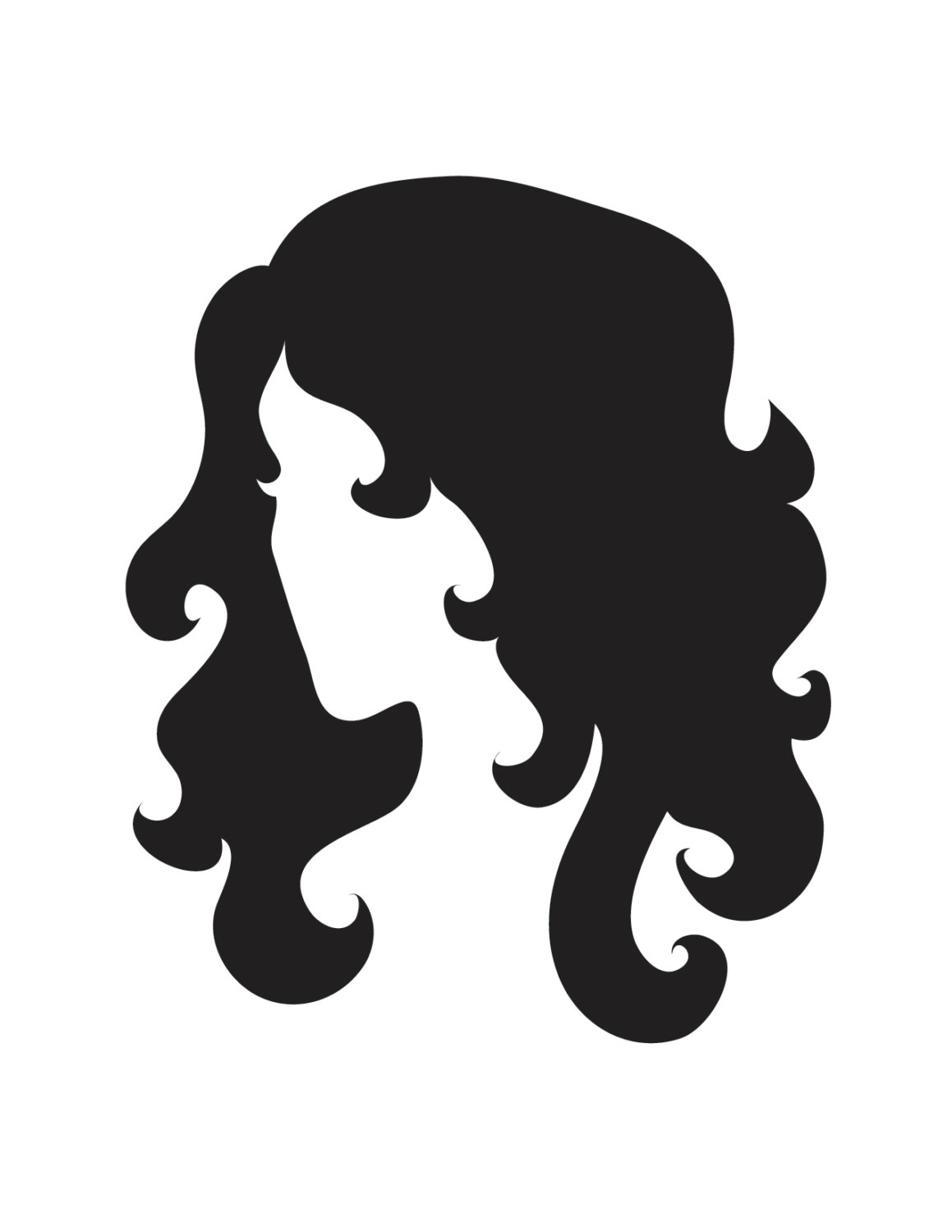 1159x1500 Female Womans Head With Flowing Hair Stencil Made From 4 Ply Mat Board