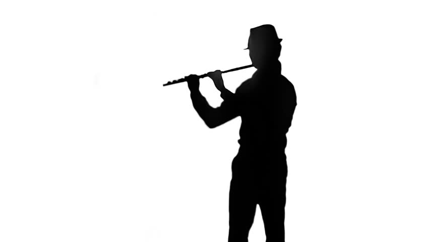 852x480 Female Musician Professional Playing On Flute. Smoky Studio, Slow
