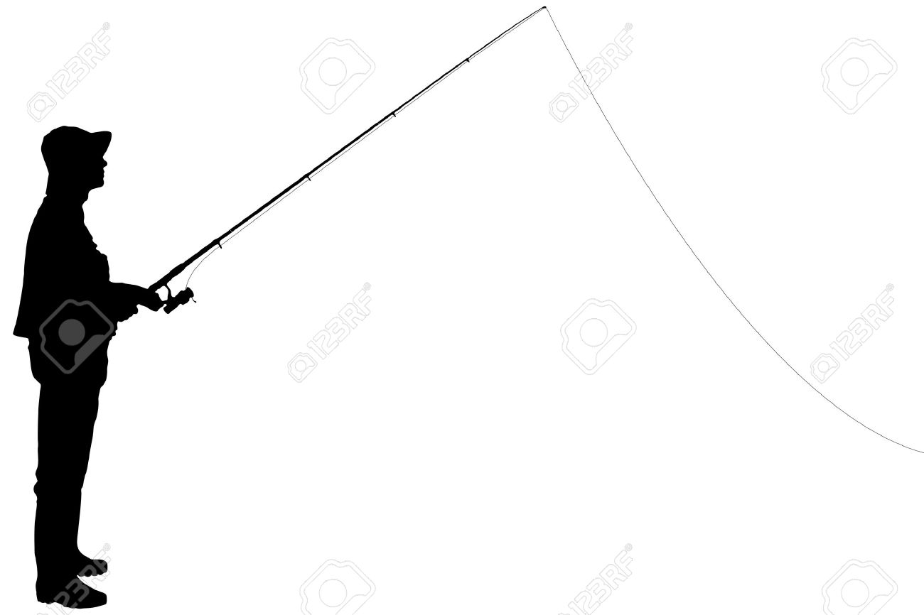 1300x866 Fishing Rod Clipart Boat Silhouette