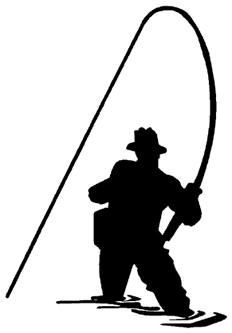 232x333 Fly Fisherman Decal