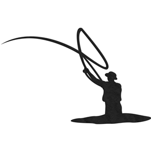 300x300 Fly Fishing Casting Silhouette