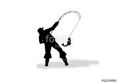 500x351 Black Fishing Silhouette On White Stock Photo And Royalty Free