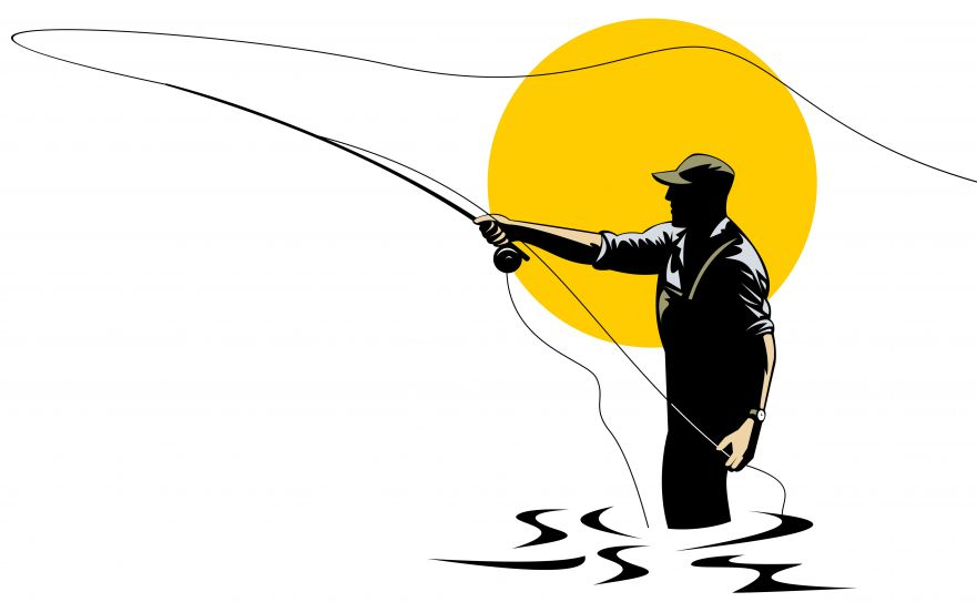 881x543 Clipart Fly Fishing