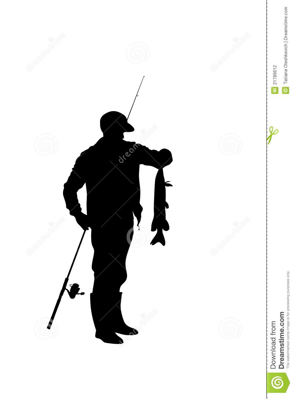 957x1300 Fisherman Silhouette Clipart