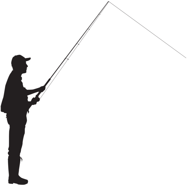 600x598 Fisherman Silhouette Png Clip
