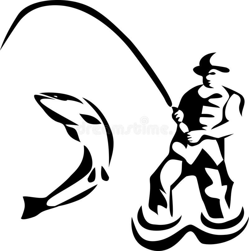 800x807 Fly Fishing Clipart Black And White Amp Fly Fishing Clip Art Black