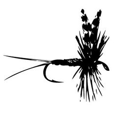 236x236 Fly Fishing On White Background Vector 1654443