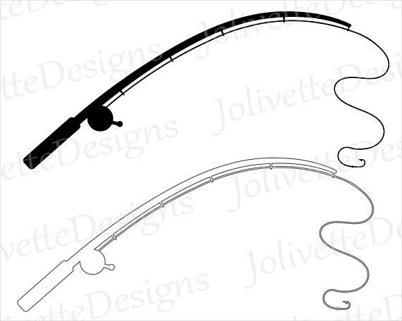 570x456 Fishing Pole Fishing Rod Reel Hook Fish Clip Art
