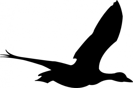 425x283 Silhouette Cartoon Birds Bird Fly Flying Goose Animal Vector, Free