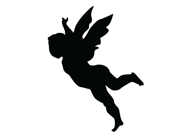 1500x1111 Flying Angel Decal Tribal Angel Sticker Beautiful Angel