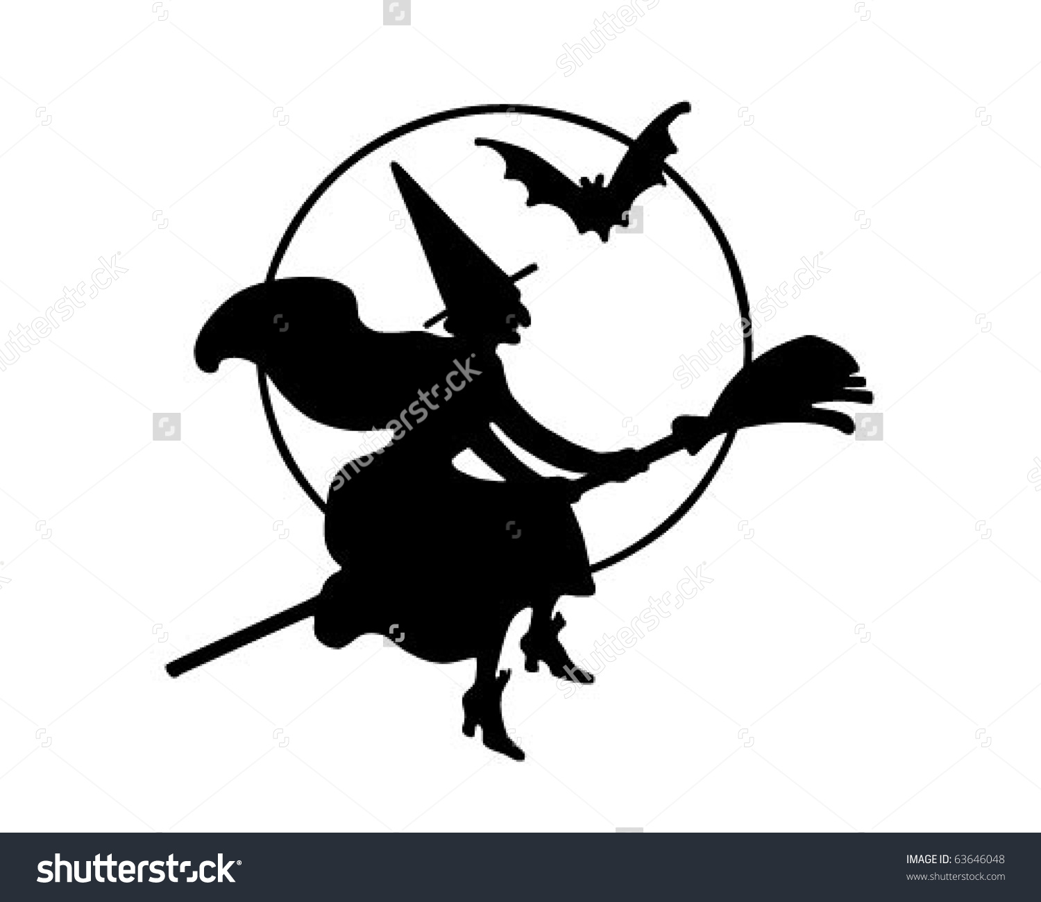 1500x1300 Flying Witches Clipart