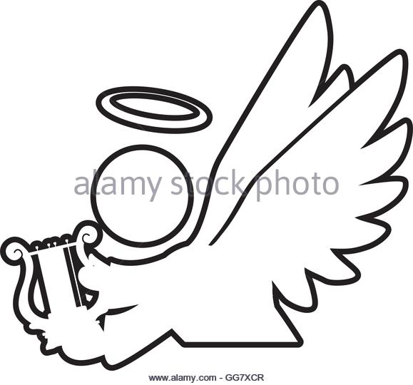 579x540 Silhouette Flying Angel Black And White Stock Photos Amp Images