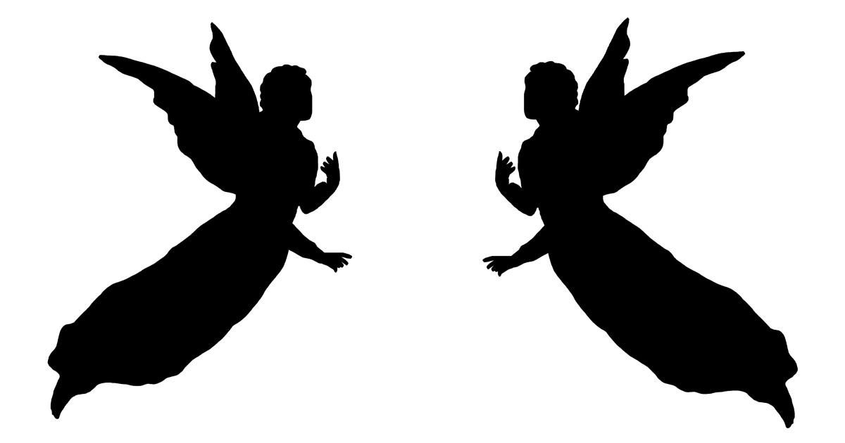 1200x630 Angel Silhouettes ~ Karen's Whimsy