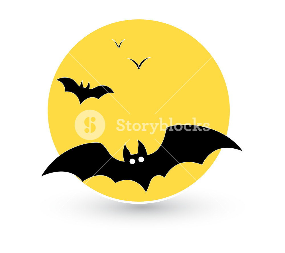 1000x887 Flying Bat Vector Royalty Free Stock Image