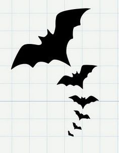 236x303 Halloween Bats Silhouettes