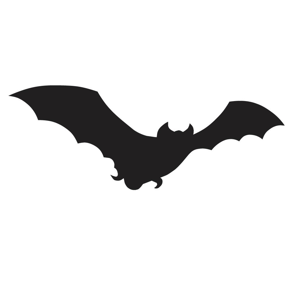 1024x1024 Bat Silhouette Decal Vinyl Sticker Sticker