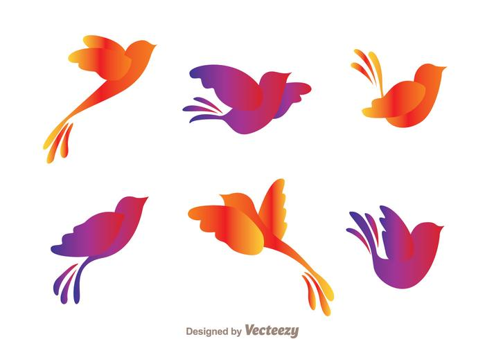 700x490 Colorful Flying Bird Silhouette Vectors