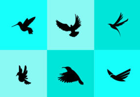 286x200 Flying Bird Silhouette Free Vector Art