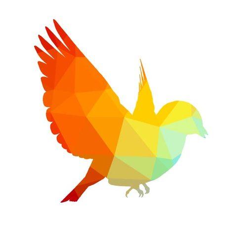 500x500 Bird In Flight Color Silhouette Public Domain Vectors