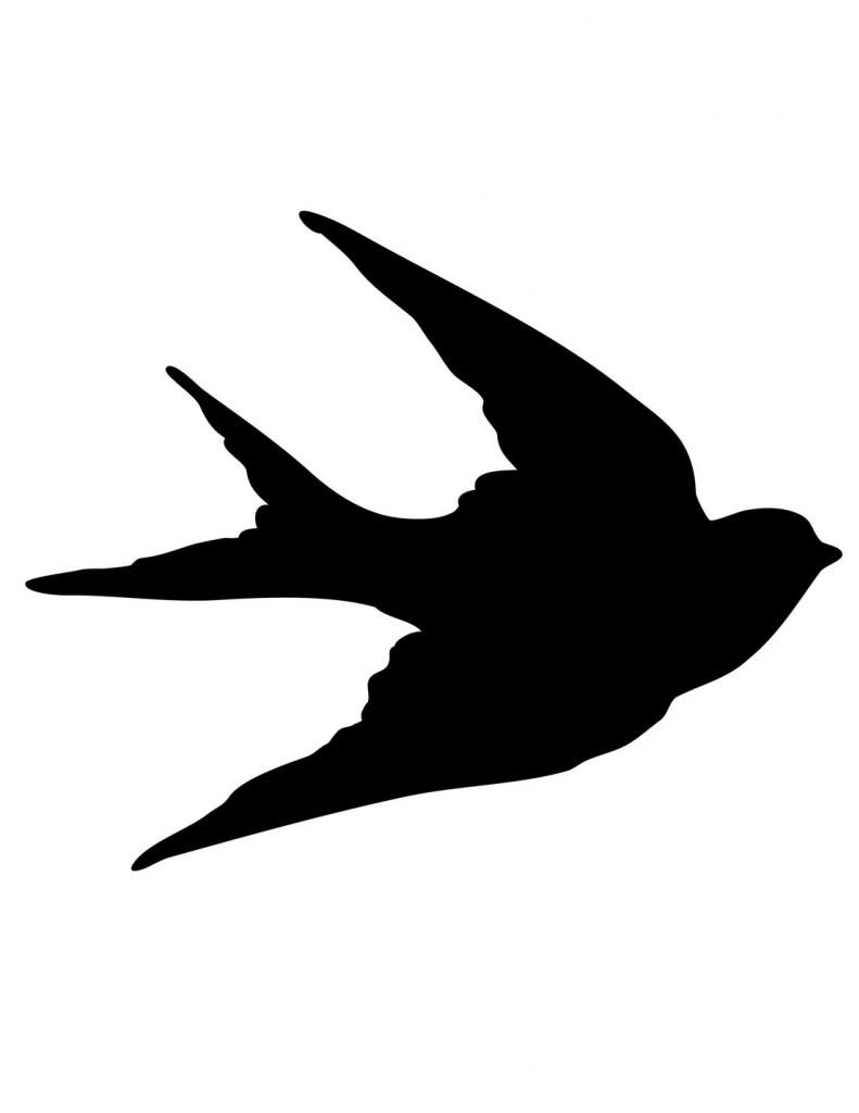 Flying Bird Silhouette Stencils
