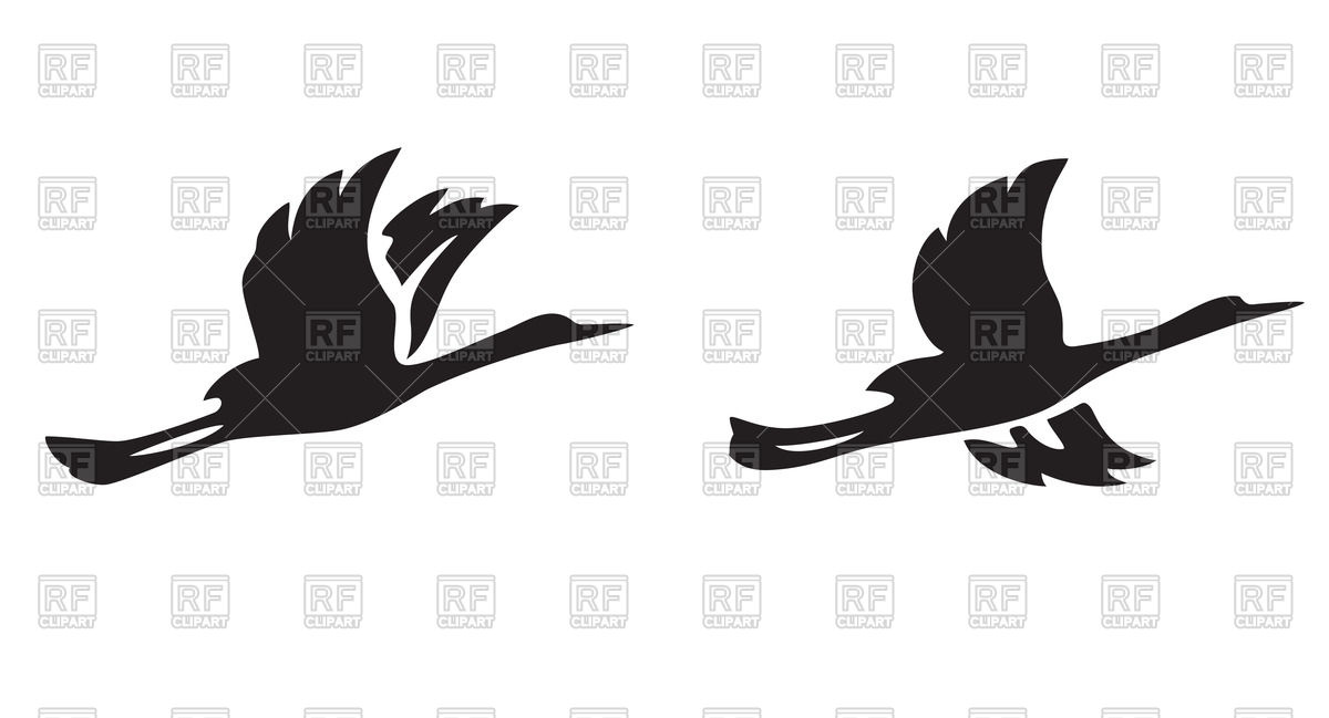 1200x649 Black Silhouettes Of Flying Birds Royalty Free Vector Clip Art