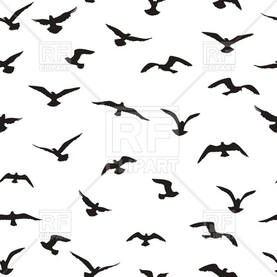 400x400 Flying Birds Seamless Pattern Royalty Free Vector Clip Art Image