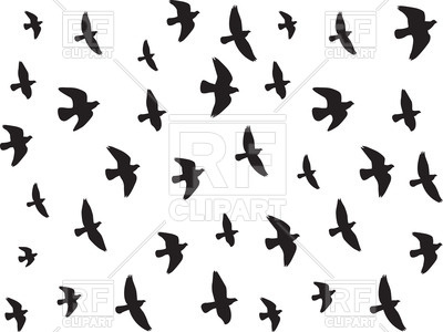 400x300 Flying Birds Silhouettes Royalty Free Vector Clip Art Image
