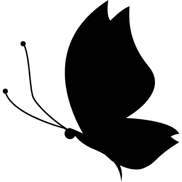 626x626 Butterfly Silhouette Side View Facing Left Icons Free Download