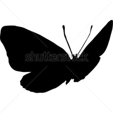 380x380 Coolest Butterfly Silhouette Clip Art Flying Butterfly Silhouette