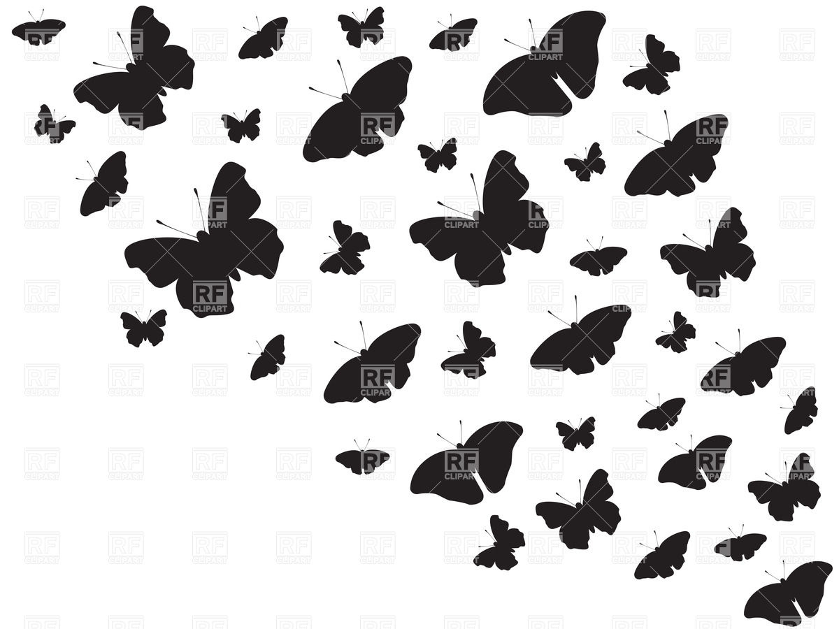 1200x900 Flying Butterflies Background Royalty Free Vector Clip Art Image