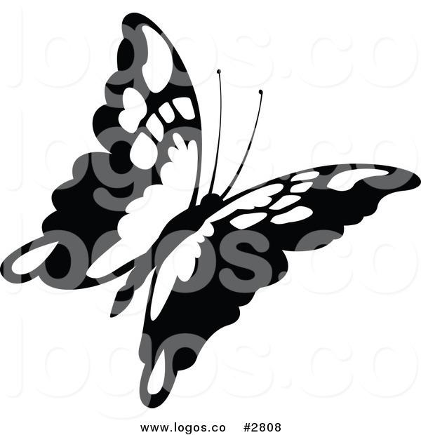 600x620 Royalty Free Flying Butterfly Logo By Dero