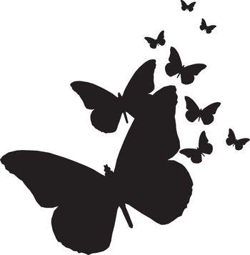 350x357 Butterflies Silhouettes