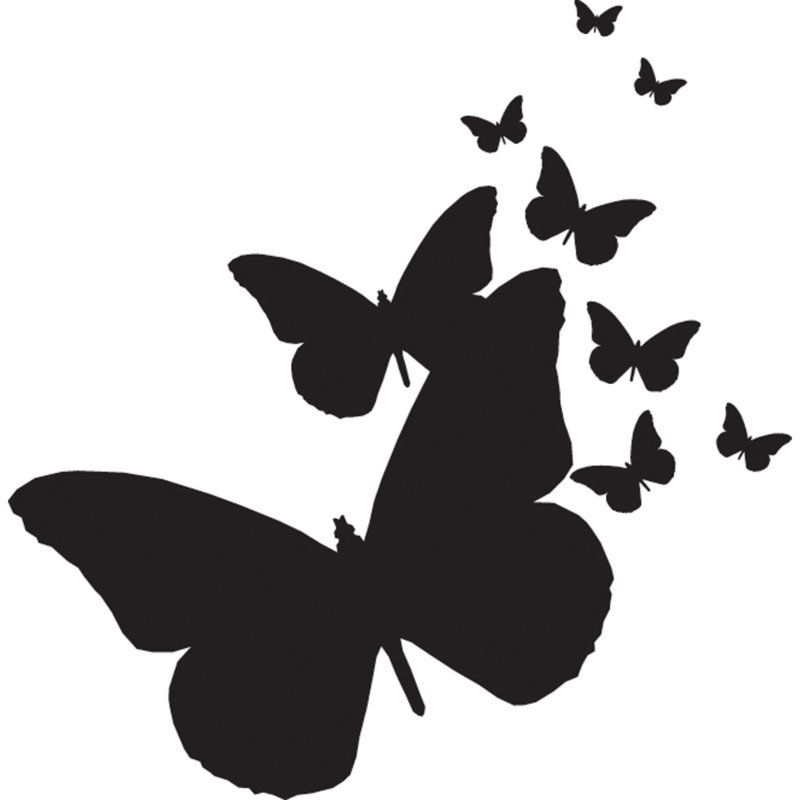 800x800 Top Flying Butterfly Silhouette Images For Tattoos