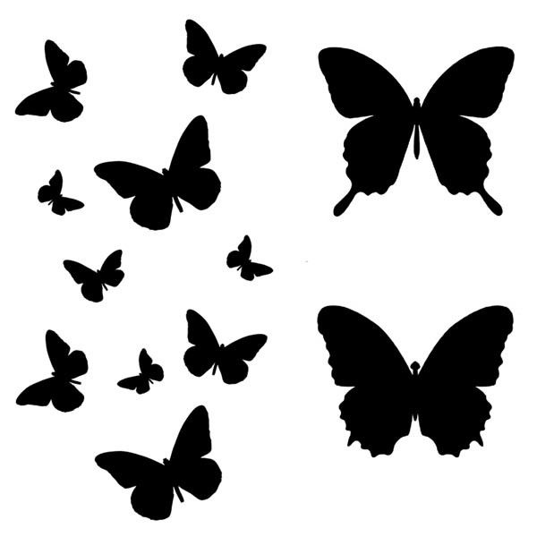 600x600 Butterfly Flight 6 X 6 Art Stencil Stenciling, Butterfly