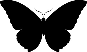 300x182 Butterfly Silhouette Vector Free