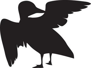 300x222 Duck Clipart Shadow