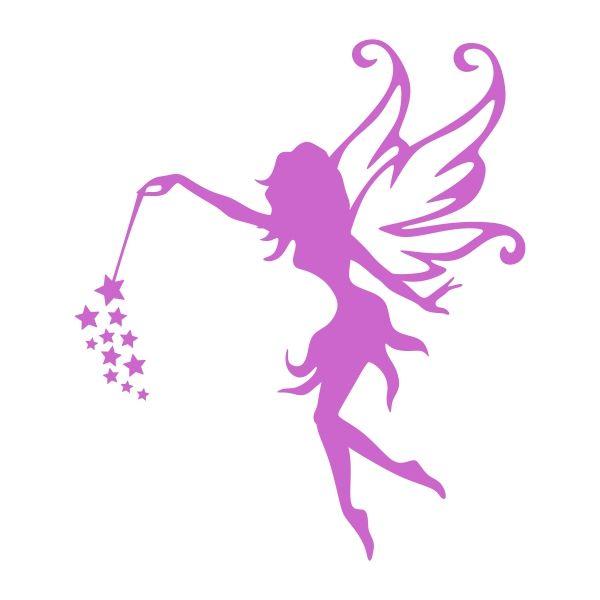 600x600 Flying Fairy Cuttable Design Vinyl Fairy, Cricut