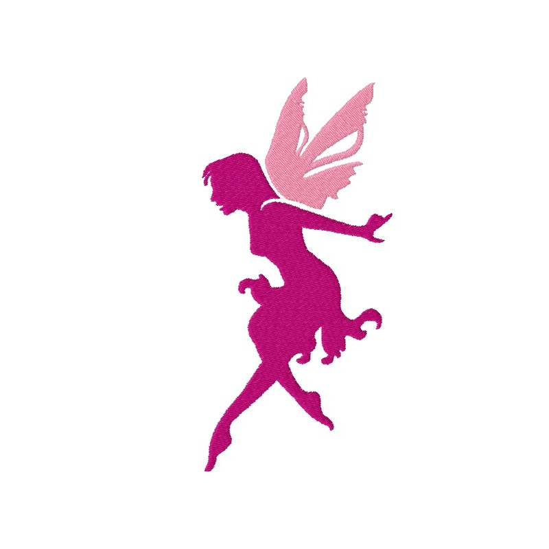 800x800 Flying Fairy Silhouette