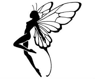 325x270 Silhouette Flying Fairy Tattoo Design