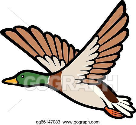 450x415 Ducks Flying Clipart