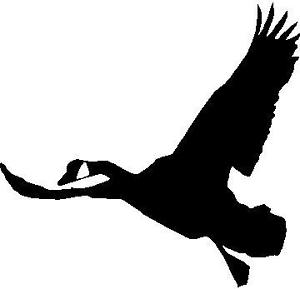 300x289 Goose Silhouette Flying Hunting Decal 5 X 5 Ebay