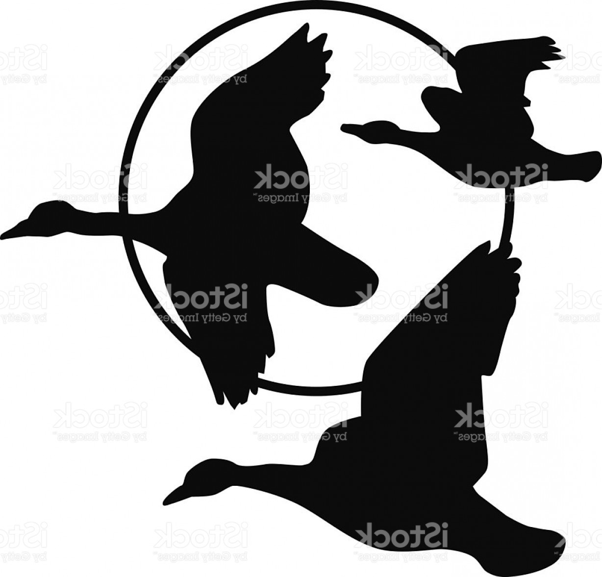 1228x1177 Flying Geese Silhouette And Harvest Moon Gm Createmepink