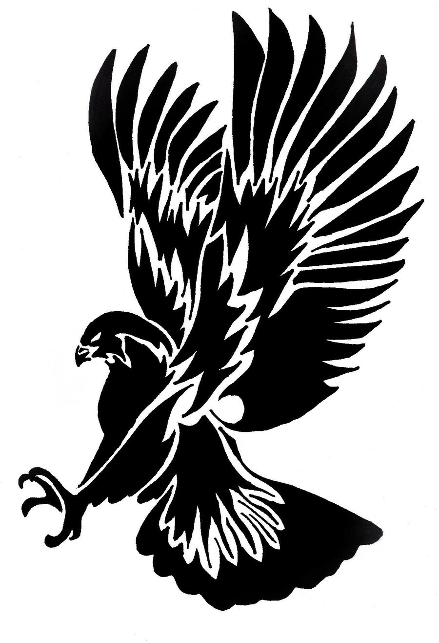 Flying Hawk Silhouette