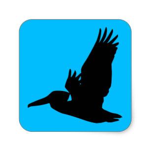 307x307 Pelican Silhouette Stickers Zazzle