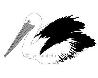 340x270 Pelican Silhouette Etsy