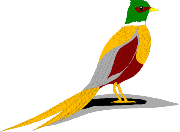 600x439 Flying Pheasant Clipart