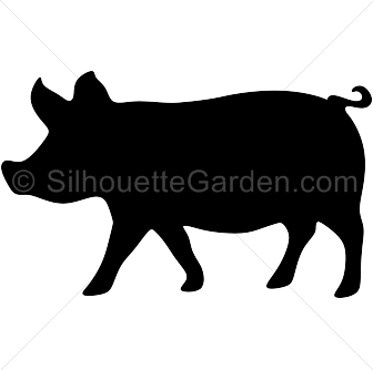 336x334 Pig Silhouette Clip Art. Download Free Versions Of The Image