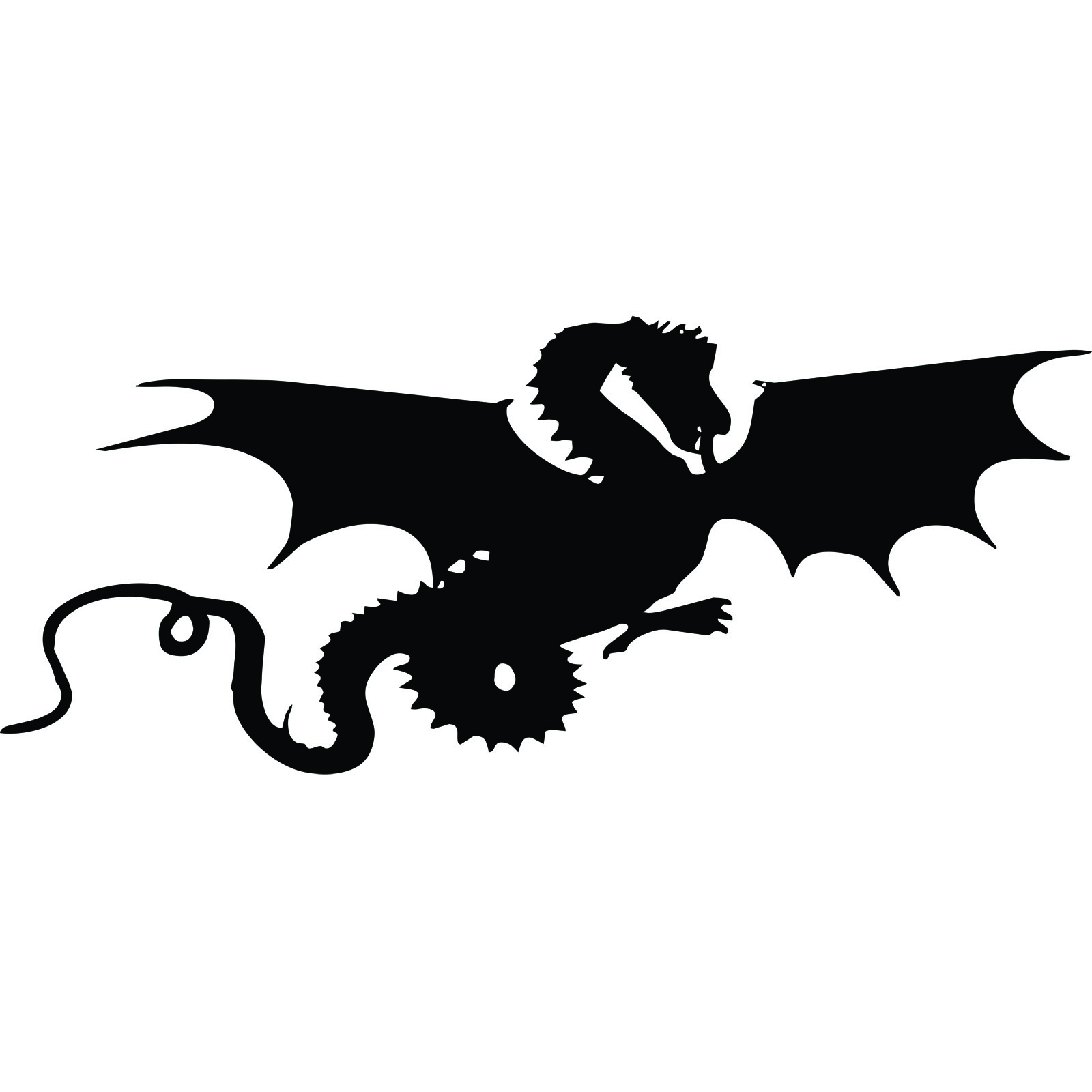 1600x1600 Flying Dragon Silhouette Wall Sticker
