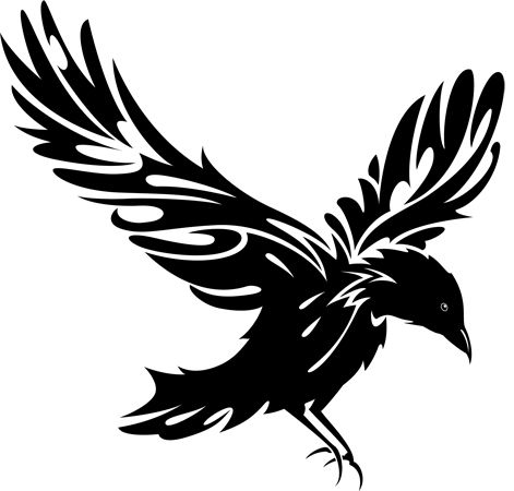 flying raven silhouette at getdrawings com free for personal use rh getdrawings com Raven Silhouette Clip Art Raven Outline